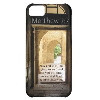 Matthew 7:7 Beautiful Bible Verse iPhone 5C Cover