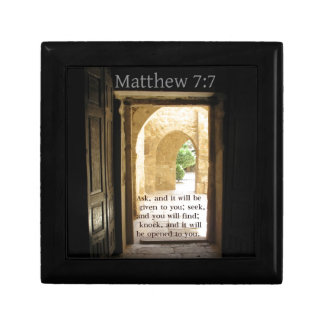 Matthew 7:7 Beautiful Bible Verse Jewelry Box