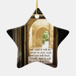 Matthew 7 7 Beautiful Bible Verse Christmas Tree Ornaments
