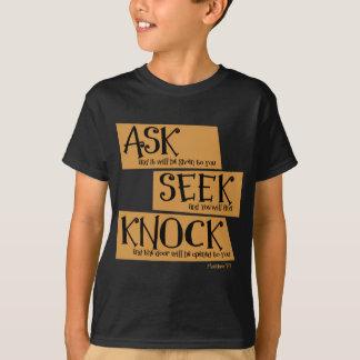 Matthew 7:7, gold2 T-Shirt