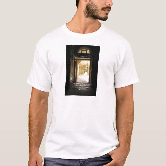 Matthew 7:7 Inspirational Bible Verse T-Shirt