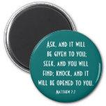 Matthew 7:7 magnets