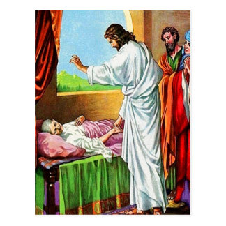 Matthew 8:14-15 Healing Peter's Mother-in-Law post Postcard