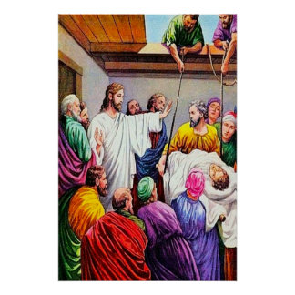 Matthew 9:1-8 Jesus Forgives and Heals Poster