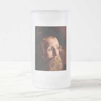 Matthew, a tax collector 16 oz frosted glass beer mug