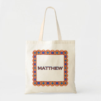 Matthew Abstract art southwestern custom tote bag