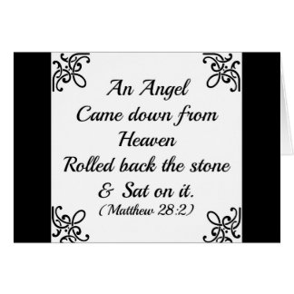 Matthew Bible an angel came down from heaven Card