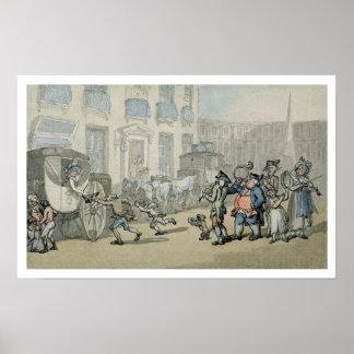 Matthew Bramble's Trip to Bath: Arrival at Bath (w Poster