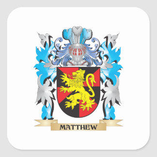 Matthew Coat of Arms - Family Crest Sticker