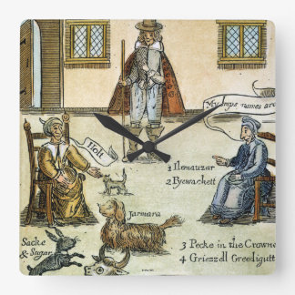 Matthew Hopkins (D 1647) Square Wall Clock