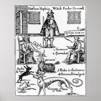 Matthew Hopkins, el general de Witchfinder Póster