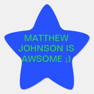 Matthew Johnson es impresionante Pegatina En Forma De Estrella