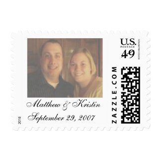 Matthew & Kristin September 29, 2007 Postage Stamp