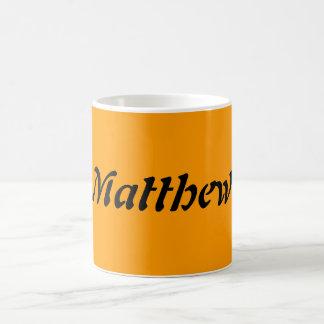 Matthew Classic White Coffee Mug