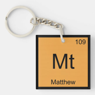 Matthew Name Chemistry Element Periodic Table Keychain
