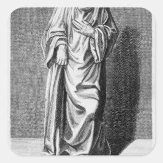 Matthew París, 1795 Pegatina Cuadrada