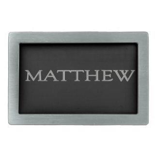 Matthew personalizó la hebilla del cinturón conoci hebilla de cinturon rectangular