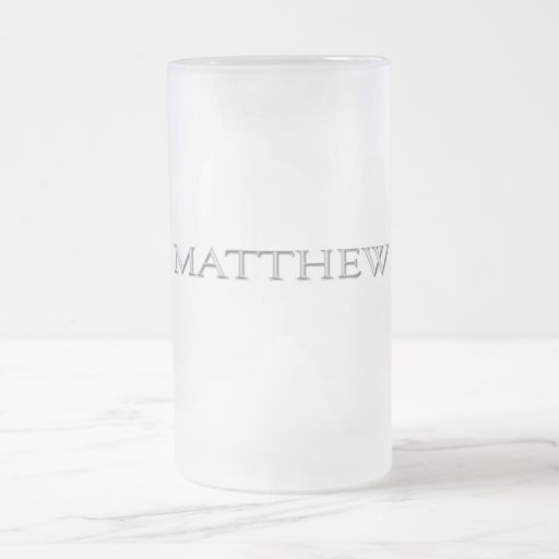 Matthew personalizó nombre tazas de café