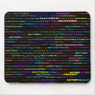 Matthew Text Design I Mousepad