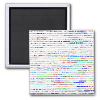 Matthew Text Design II Square Magnet