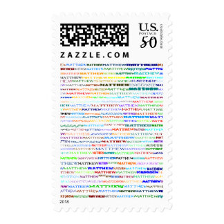 Matthew Text Design II Vertical Postage