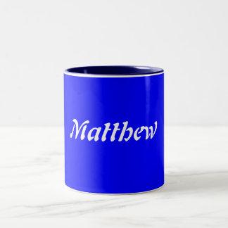 Matthew Two-Tone Coffee Mug