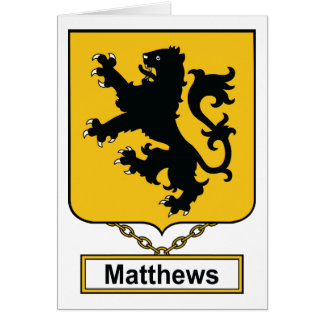 Matthews Family Crest Greeting Card