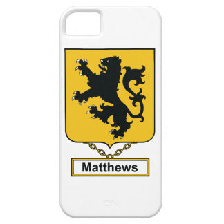 Matthews Family Crest iPhone 5 Cover