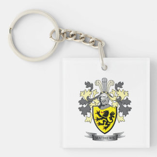 Matthews Family Crest Coat of Arms Keychain