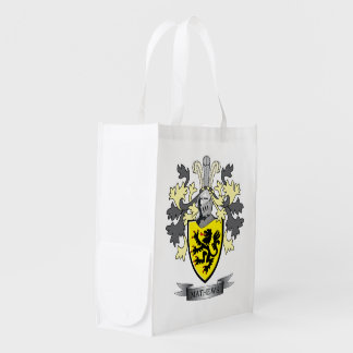 Matthews Family Crest Coat of Arms Reusable Grocery Bag