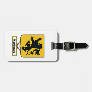 Matthews Family Crest Luggage Tags