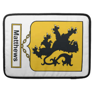 Matthews Family Crest Sleeve For MacBook Pro