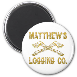 Matthew's Logging Company Magnet