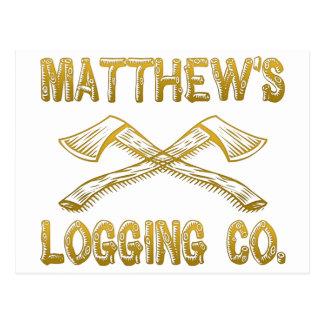 Matthew's Logging Company Postcard