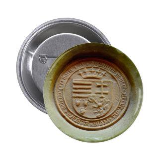 Matthias Corvinus seal budapest museum hungary Button