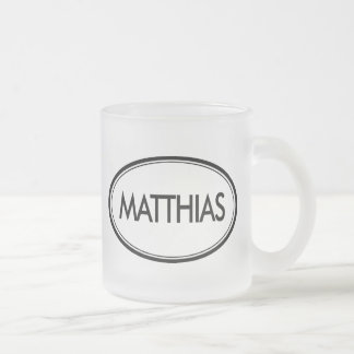 Matthias Frosted Glass Coffee Mug