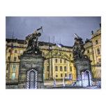 Matthias Gate Prague Castle Night Postcards