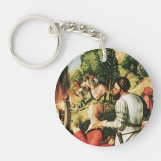 Matthias Grünewald- Heller Altarpiece (detail) Single-Sided Round Acrylic Keychain