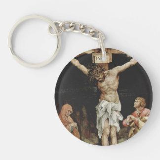 Matthias Grünewald- The Crucifixion Single-Sided Round Acrylic Keychain