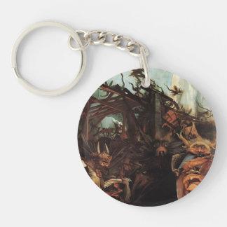 Matthias Grünewald- The Temptation of St. Anthony Single-Sided Round Acrylic Keychain