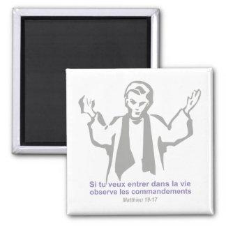Matthieu 5-9 Pasteur Gris Lilas 2 Inch Square Magnet