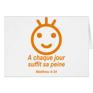 Matthieu 6-34 Smilley anaranjado Tarjetas