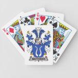 Matthisen Family Crest Bicycle Poker Cards