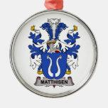 Matthisen Family Crest Christmas Ornaments