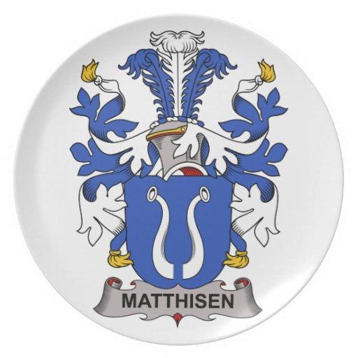 Matthisen Family Crest Plates