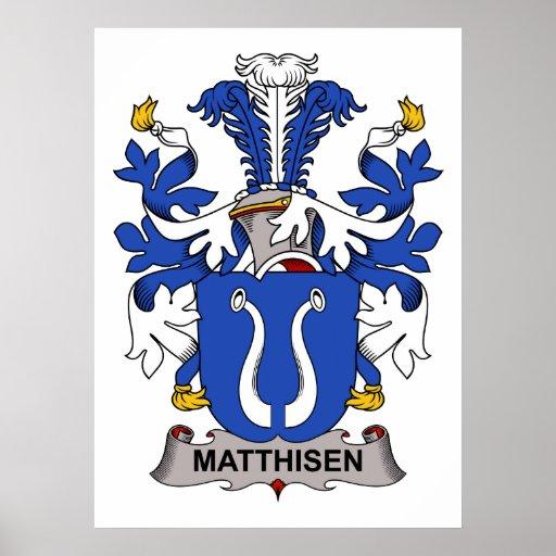 Matthisen Family Crest Print