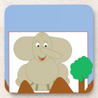Mattie the Elephant Cork Coaster