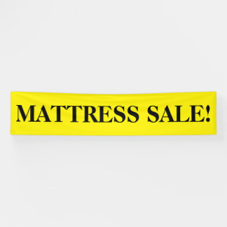 Mattress sale simple black yellow banner sign