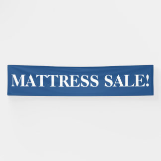 Mattress sale simple blue white banner sign