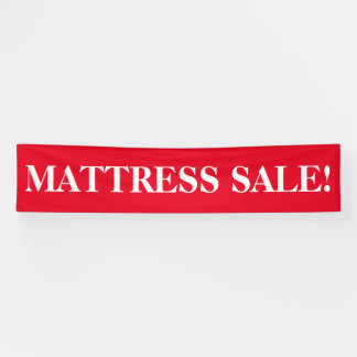 Mattress sale simple red white banner sign